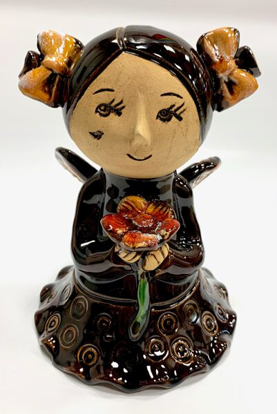 Lietuvas keramika - dekors eņģeļu meitene 5