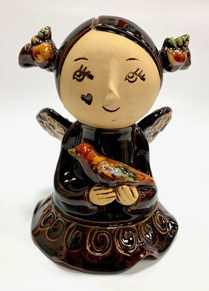 Lietuvas keramika - dekors eņģeļu meitene 4