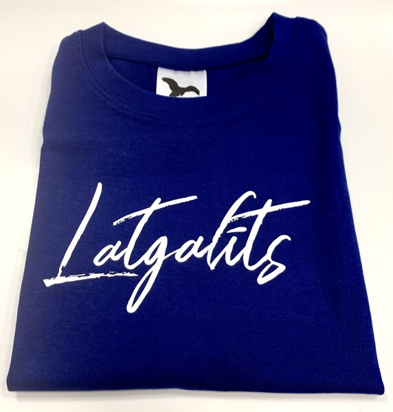 T-krekls bērnam - Latgalīts zils